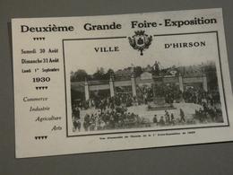 HIRSON. CARTE PHOTO. 2éme FOIRE EXPOSITION 1930. - Hirson