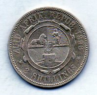 SOUTH AFRICA, 2 Shillings, Silver, Year 1896, KM #6 - Sudáfrica