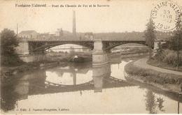 Fontaine-Valmont : Pont Du Chemin De Fer Et La Sucrerie  1907 - Merbes-le-Château
