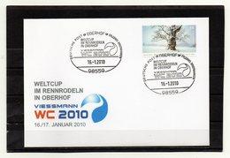BRD, 2010, Brief Mit Michel 2577 Und Sonderstempel, Weltcup Rennrodeln In Oberhof - Lettres & Documents