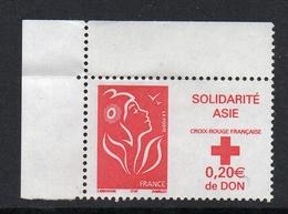 Timbres France BORD DE FEUILLE N° 3745 NEUF ** Croix Rouge Solidarité Croix Rouge - Ungebraucht