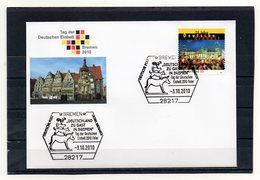 BRD, 2010, Brief Mit Michel 2821 Und Sonderstempel, Tag Der Deutschen Einheit/Bremen - Brieven En Documenten