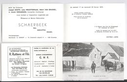 Invitation Exposition Schaerbeek Hier Aujourd'hui Demain : Cartes Postales Anciennes Gustave Abeels 1973 - Vieux Papiers