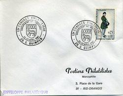 QUIMPER 1967 13e CONGRES PHILATELIQUE GROUPEMENT DE BRETAGNE Blason Mouton - Gedenkstempel
