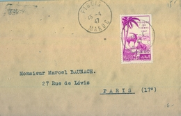 1947 , MARRUECOS FRANCÉS , FIGUIG - PARIS , SOBRE CIRCULADO - Covers & Documents