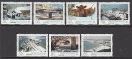 2011 Guernsey Winter Paintings Art  Complete Set Of 7   MNH @ BELOW FACE VALUE - Guernsey