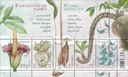 Blok 213** Fantastische Flora 4393/97** Flore Insolité  Bijzondere Planten Uit De Plantentuin (Jardin Botanique) Meise - Neufs
