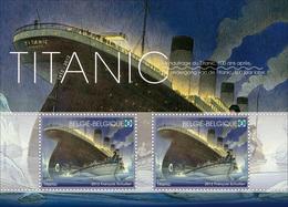 Blok 200** Titanic Postfris 4228/29** Feuillet Le Titanic Non- Obliteré - Sheet Titanic Unused Edition - Neufs