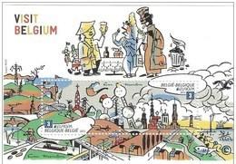 Blok 198** Visit Belgium Met Zegels 4216/17** Feuille Visitez Les Belges!! MNH + Met Raket Kuifje / Tintin - Blocs 1962-....