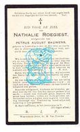 DP Nathalie Roegiest ° Lovendegem 1870 † Zomergem Beke 1933 X Petrus A. Bauwens - Images Religieuses