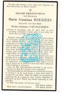 DP Maria F. Roegiers ° Sleidinge Evergem 1857 † Gent 1933 X Pieter J. Van Fleteren - Images Religieuses