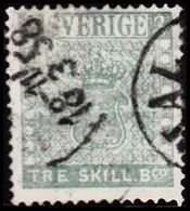 1855. Skilling Banco. TRE (=3) Skill B:co Repaired Well-centered Ex Of This Scarce St... (Michel 1a) - JF302740 - Usati