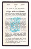 DP Joseph Romain Robyns 24j. ° Laar Landen 1904 † 1929 - Images Religieuses