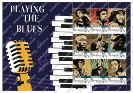 Ukraine. Jazz Icons. Music. Singers. Sheet. Personalized. MNH - Musica