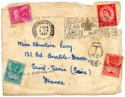 "GRANDE-BRETAGNE.1957. ""WORLD SCOUT/JUBILEE JAMBOREE.../1-12 AOUT 1957"".TAXEE. - Enfance & Jeunesse"