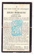 DP Jules Robaeys † Passendale Zonnebeke 1882 † 1929 X Sidonie Bol - Images Religieuses