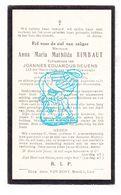 DP Anna M. Mathilde Rimbaut ° Lier 1858 † 1930 X Joannes Ed. Geuens - Images Religieuses