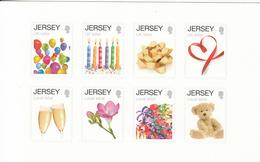 2012 Jersey Greetings Teddy Bears Wine Flowers Miniature Sheet Of 8 MNH @ BELOW FACE VALUE - Jersey