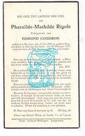 DP Pharaïlde Math. Rigole ° Beselare Zonnebeke 1869 † St.-Jan Ieper 1937 X Edm. Coudron - Images Religieuses
