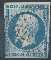 N°14 LOSANGE PETITS CHIFFRES 3738 - 1853-1860 Napoleon III