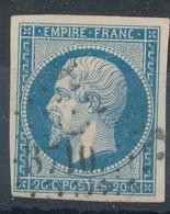 N°14 LOSANGE PETITS CHIFFRES 3710 - 1853-1860 Napoléon III.