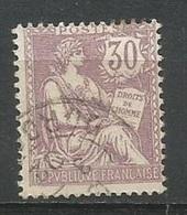 1902 -TYPE MOUCHON- N° 128 Obl.(o) - 30 C. Violet - V. Image - 1900-02 Mouchon