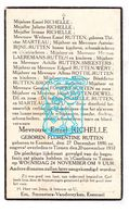 DP Florentine Rutten ° Ezemaal Landen 1896 † Tienen 1937 X Emiel Richelle / Marteau Smeesters Wéry Rottie Broos Dewelde - Images Religieuses