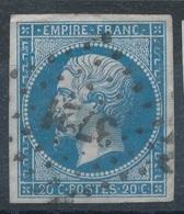 N°14 LOSANGE PETITS CHIFFRES 3721 - 1853-1860 Napoléon III