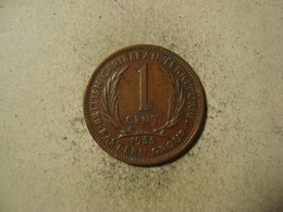 MONNAIE CARAIBES ORIENTALES 1 CENT 1955 - East Caribbean States