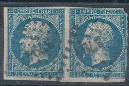 N°14 PAIRE  LOSANGE PETITS CHIFFRES 3794 - 1853-1860 Napoléon III.