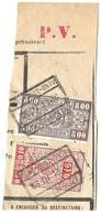 """9Fr-997: GENT-OOST-ONTV. // GAND-EST-REGEV.: 2 Zegels : TR136 + TR160: Perfin's: """" F.B. """" ... Verder Uit Te Zoeken.. - Chemins De Fer"""