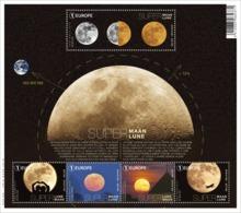 Blok 245** Astronomie In De Kijker. Supermaan! 4647/51** L'Astronomie Par Le Petit Bout De La Lorgnette: Super Lune. - Neufs