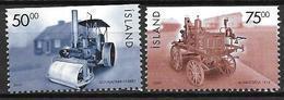 Islande 2000 N°888/889 Neufs** Engin Chantier Et Pompier - 1944-... Republique