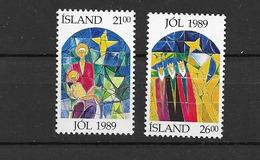 1989 MNH Iceland, Michel 712-13 Postfris** - Unused Stamps