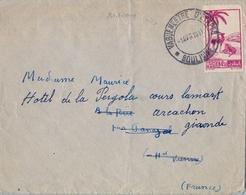 """1947 MARRUECOS FRANCÉS , FECHADOR MILITAR """" VAGUEMESTRE D'ETAPES """" , SOBRE CIRCULADO A FRANCIA , TRANS. DE TIZNIT - Covers & Documents"""
