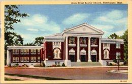 Mississippi Hattiesburg Main Street Baptist Church Curteich - Hattiesburg