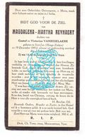 DP Magdalena M. Reynaert / VanBeselaere 29j. ° St.-Jan / Hoge Zieken 1892 † 1922 - Images Religieuses