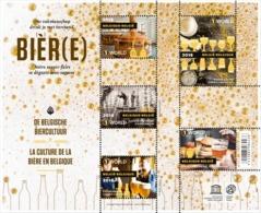 Blok 260** De Belgische Biercultuur 4754/58** Bruisend Erfgoed - Un Patrimoine Mousseux - Neufs
