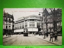 Nancy, Place St-Jean Et Vue Des Magasins Réunis. Tramway - Nancy