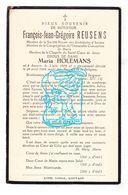 DP François Jean G. Reusens ° Antwerpen 1878 † 1924 X Maria Holemans - Images Religieuses