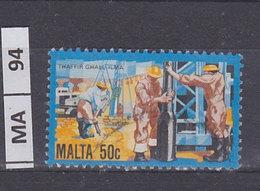 MALTA   1981Storia Dell'industria Maltese 50 C Usato - Malta