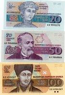BULGARIA-20,50,100 LEVA -1991,92,93 P-100,101,102  UNC - Bulgaria