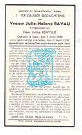 DP Julia H. Ravau ° Ieper 1888 † 1935 X Julius LeWyllie - Images Religieuses