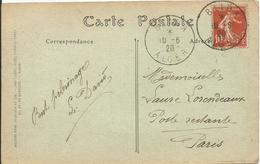 1907 - N° 138 Obl. (o) Sur Carte - Obl. ALGER - Basilique - France
