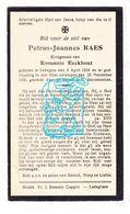 DP Petrus J. Raes ° Ledegem 1858 † 1930 X Romanie Eeckhout - Images Religieuses