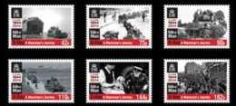 2014 Isle Of Man -World War II - 70 Years Of D Day -set Of 6 V - Paper - MNH** Mi 1953/58 Churchil, Ship, Victory, Tanks - Man (Eiland)