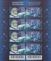 2015 Kazakhstan Space 50 Years Of First Space Walk Sheetlet MNH** MI Klb.913-914 - Kasachstan