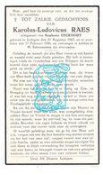 DP Karolus L. Raes ° Ledegem 1863 † 1936 X Stephanie Eeckhout - Images Religieuses