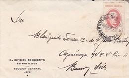 """5° DIVISIÓN DE EJERCITO ARGENTINO"". ARGENTINA ENVELOPPE CIRCULEE SALTA A BUENOS AIRES. ANNEE 1938 -LILHU - Argentina"
