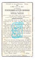 DP Edouard L. Rabau ° Ieper 1858 † 1941 X Romanie Gruwier - Images Religieuses
